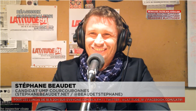 [Municipales2014] ITW VIDEO de Stéphane Beaudet candidat UMP Courcouronnes