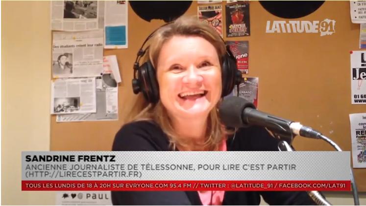 """[Archive Lat91] ITW VIDEO de Sandrine Frentz pour """"Lire c'est partir"""""""