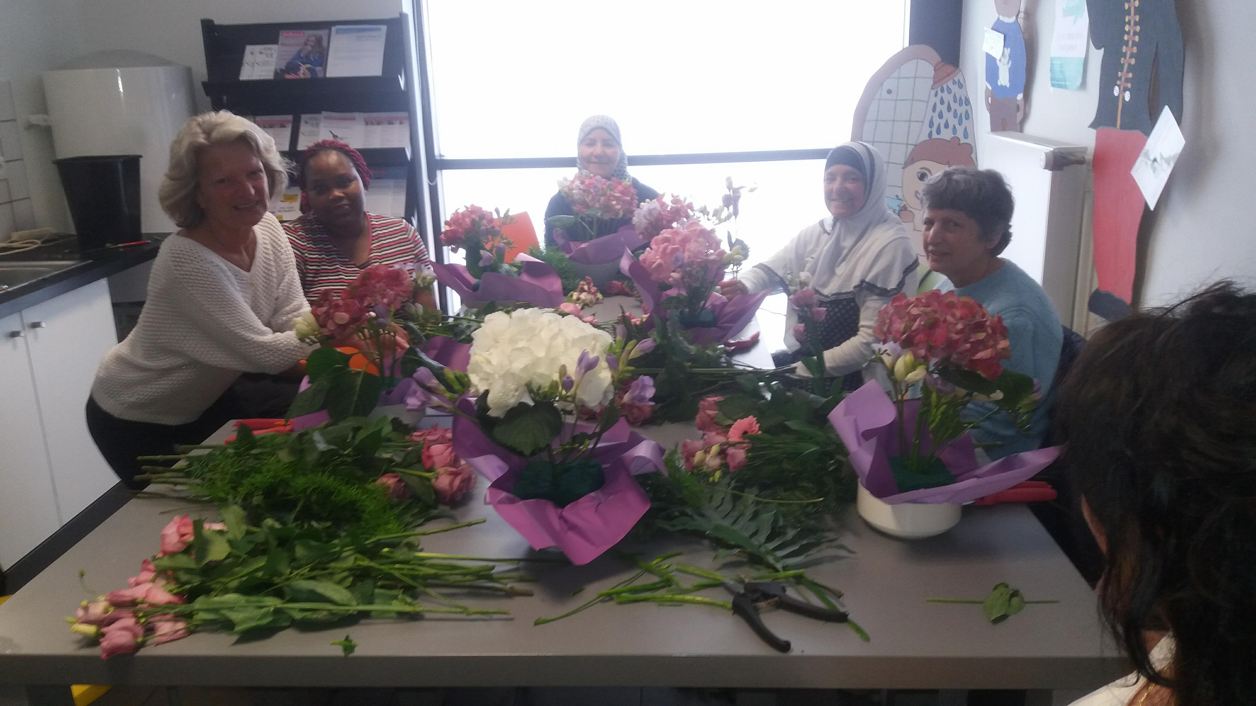 Courcouronnes : Un atelier d'art floral mensuel pour s'initier à la confection d'un bouquet
