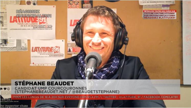 [Municipales2014] ITW VIDEO de Stéphane Beaudet candidat UMP Courcouronnes